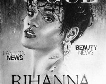 Rihanna Vogue (0riginal Drawing)