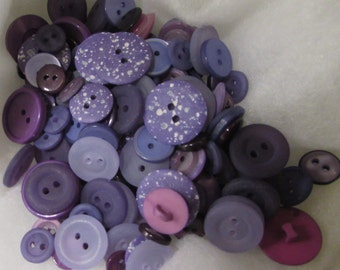 Purple and Lilac Buttons