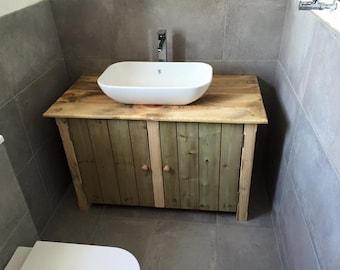 Antique Gray Weathered Bath Vanity