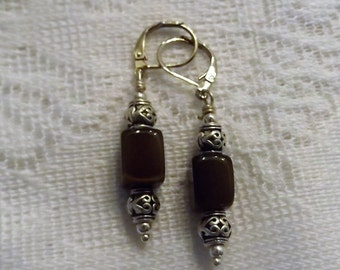 Brown Stone and Tribal Beads