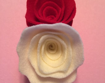 Large double rose hair clip