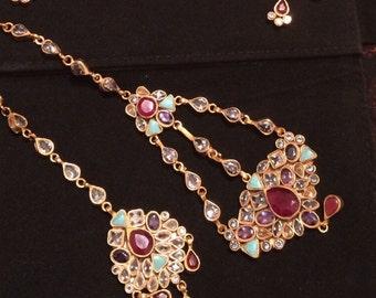 Gorgeous Multicolor Bridal Set | Pakistani / Indian Jewelry |
