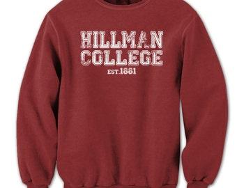 Hillman College Est 1881 Retro 80S Different World Alumni Crewneck Sweatshirt DT0601