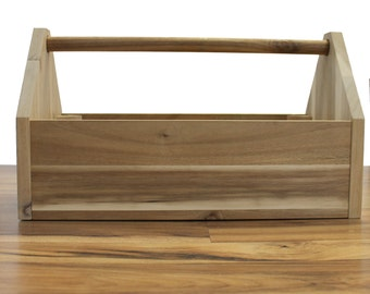 Personalized Wooden Tool Box with handle- Fathers Day Gift, Groomsmen, Custom, Laser Engraved