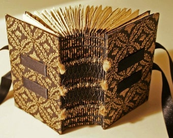Black and Gold Handmade Book