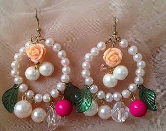Earrings/rococo/shabby chic earrings