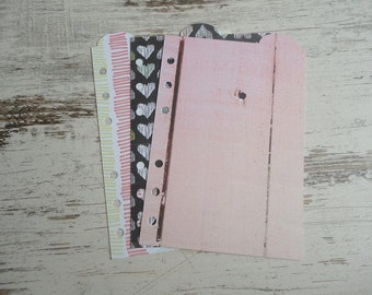 "A6 top dividers ""love pink"""