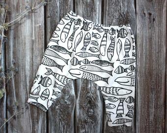 100% organic cotton harem. Harems organic cotton.  Organic Cotton Knit. Knitted cotton.