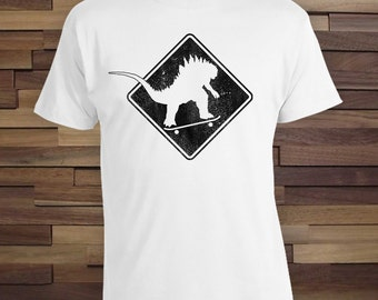 Godzilla Skating - Godzilla Crossing Party Shirt, Skate Shirt Gifts for Dad, Christmas Gift Idea kids shirts gifts for him, dad shirt CT-721