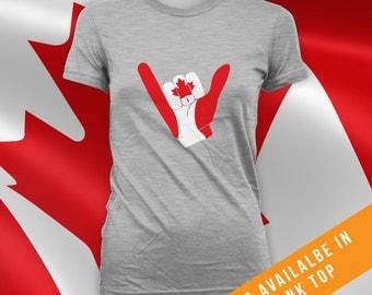 Canada Day Hang Ten T-shirt, mens womens t-shirt, canada day t-shirt, mens canada day shirt,womens canada day shirt,canadian apparel -CT-489
