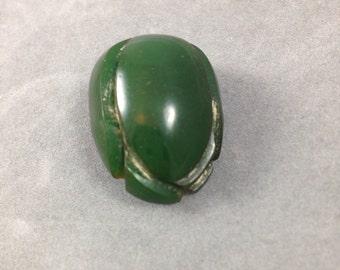 Green(Bell) Pepper Bakelite Button