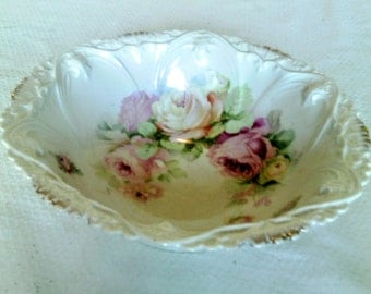 Deep Fine China Serving Bowl Marked Bavaria