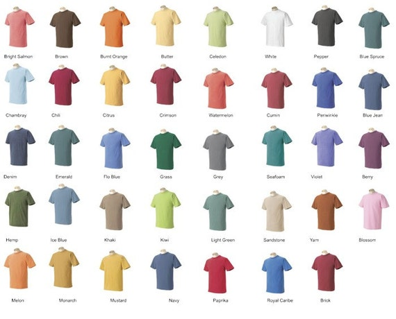 Comfort color short sleeve tshirt with vinyl monogramming for Custom t shirt design comfort colors