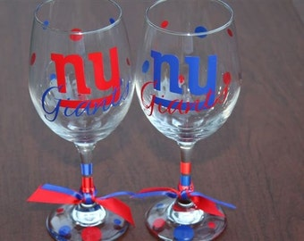 NY Giants...Bar Glass Sports, Choose your Glass.....