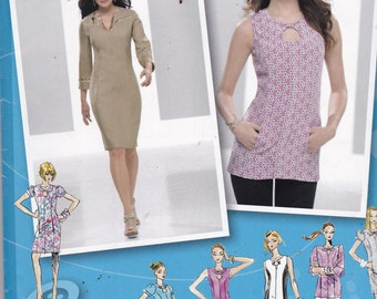 Simplicity 2583  Vintage Pattern Womens Fitted Dress in Variations and Tunic Top Size 14,16,18,20,22 UNCUT