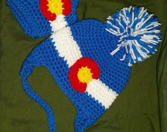Colorado Flag Baby Hat and Booties Made to Order so Every Fit is Perfict
