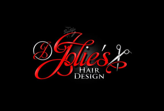 Hair Salon Logo With Scissors Beauty Stylist Graphic Design Sign In Any Colors