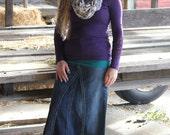Modest Modern Denim Skirt, Ankle Length - Ladies Sizes 1 - 14