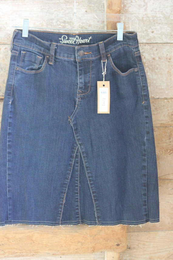 mid length denim skirt size 2
