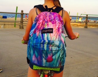 Jellyfish Backpack Alyssa Rolen Original Art!  Limited quantities with signed 4 x 6 artist card