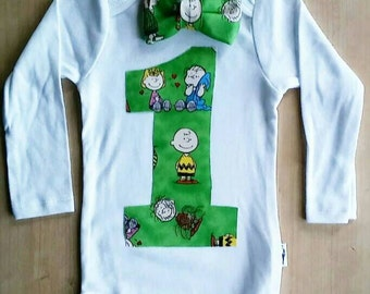 Charlie Brown Inspired 1 year old Onsie