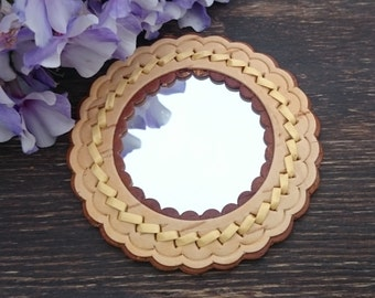 compact mirror favors, cosmetic mirror, girl gift, compact, personalized mirror,birch bark, sister gift, mother of the groom, gift for wife