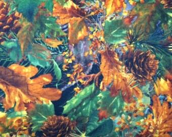 Wilmington Prints DONA (NATURAL) 100% Cotton Premium FLANNEL Fabric - Per 1/2 Yard