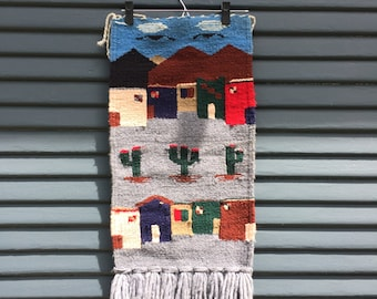 Mexican Woven Small Wall Tapestry