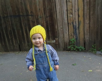 Soft and warm merino hat for baby - Winter hat for baby - Ear-covering hat - Merino wool - Natural fiber - Choose your colour!