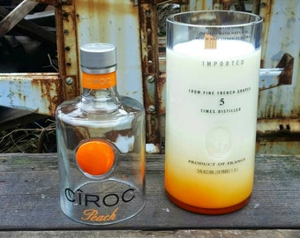 Extra Large Ciroc Peach Vodka Candle - 1.75 Liter Bottle