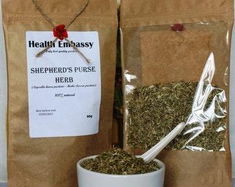 Shepherds Purse Herb (Capsella bursa pastoris - Herba Bursae pastoris) - Health Embassy - Organic