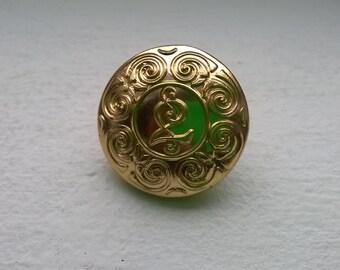 Rare Vintage Irish Police Jacket Button 25mm