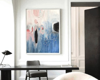painting , wall art  acrylic painting oil painting   abstract painting ,  with rosa and white. jolina anthony