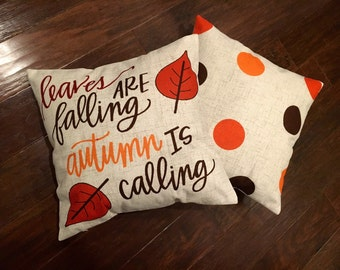 Leaves are Falling - Fall pillow cover