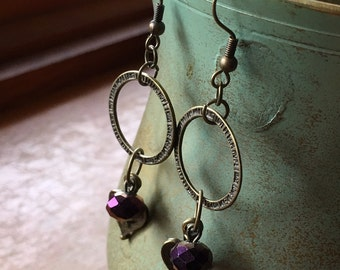 Antique Bronze Dangle Earring