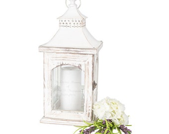 4 Lines Personalized Wedding Unity Candle Holder Lantern Memorial or Wedding
