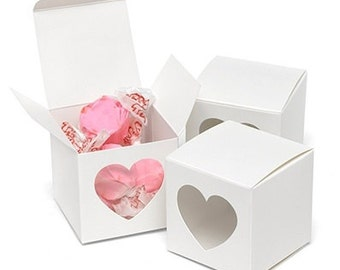 Heart Cut Out Window Favor Box (Pack of 25) Wedding Favors Valentines Day