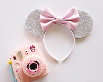 Silver Holographic Sequin Mouse Ears