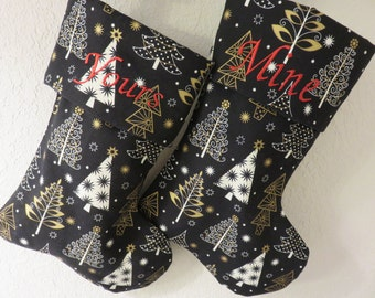 Christmas Stockings  Yours & Mine Set of 2         Free Shipping