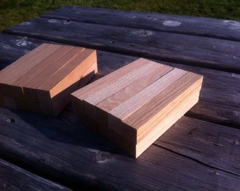 20 Pen Blanks Cherry and Red Oak