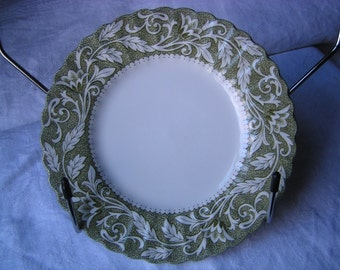 "J&G Meakin ""Lucerne-Green"" bread plate"