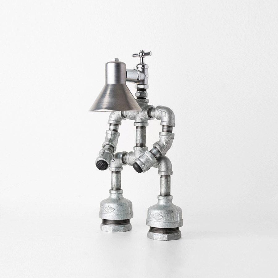 Pipe Lamp Industrial Lamp Urban Pipe Lamp By: PIPESTORY Pipe Lamp / Iron Pipe Lamp / Industrial Lamp