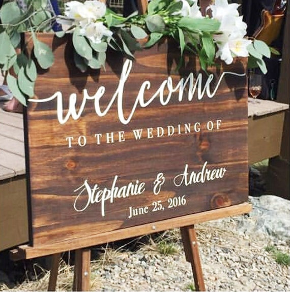 Etsy Wedding Signs: Welcome To Our Wedding Sign Wedding By BravoodWoodDesign