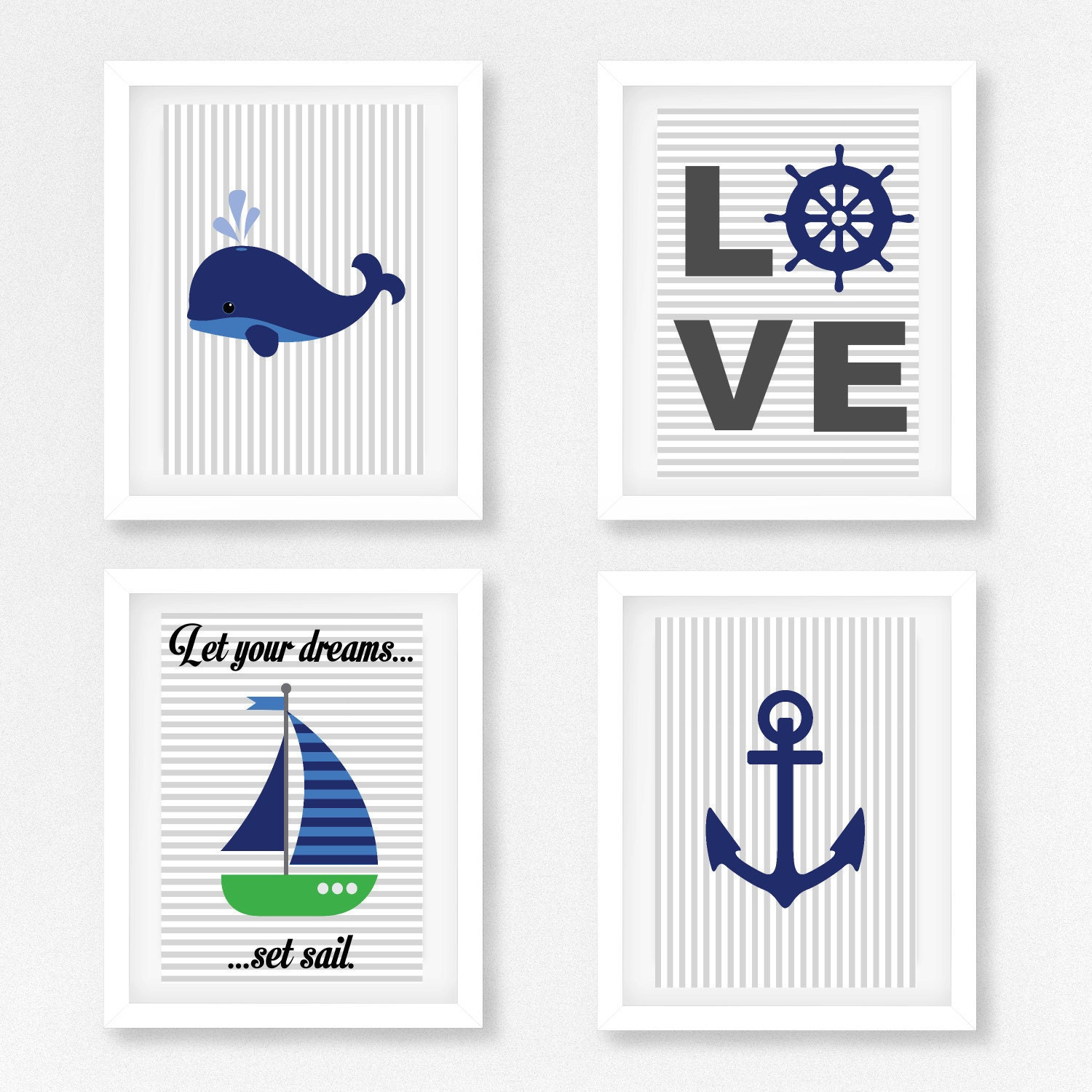 Nautical Wall Decor Nautical Nursery Art Nautical Decor