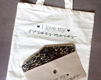 I Love My Bridesmaids Natural Canvas Tote Bag