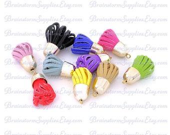 Decorative Tassels - Key Chain Tassel - 6 Assorted Colors, Pale Gold Caps - Tassels for Jewelry - Purse Tassel - Bookmark Tassels - TD-2G01