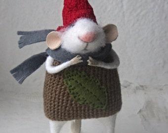 Felt mouse.The little felt mouse.Felted Mouse, Needle Felted Mouse, Cute Felted Mouse.