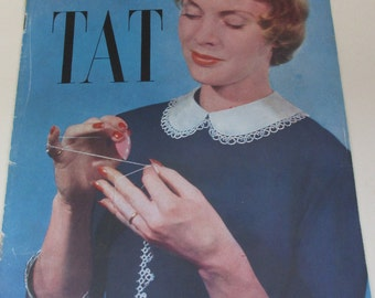 Vintage 1950s Pattern Magazine - Learn to Tat