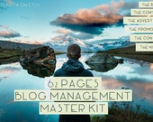 Printable blog management kit - blog planner - instant download - 62 pages - fact sheet & templates - A4 blogging planner - perpetual set