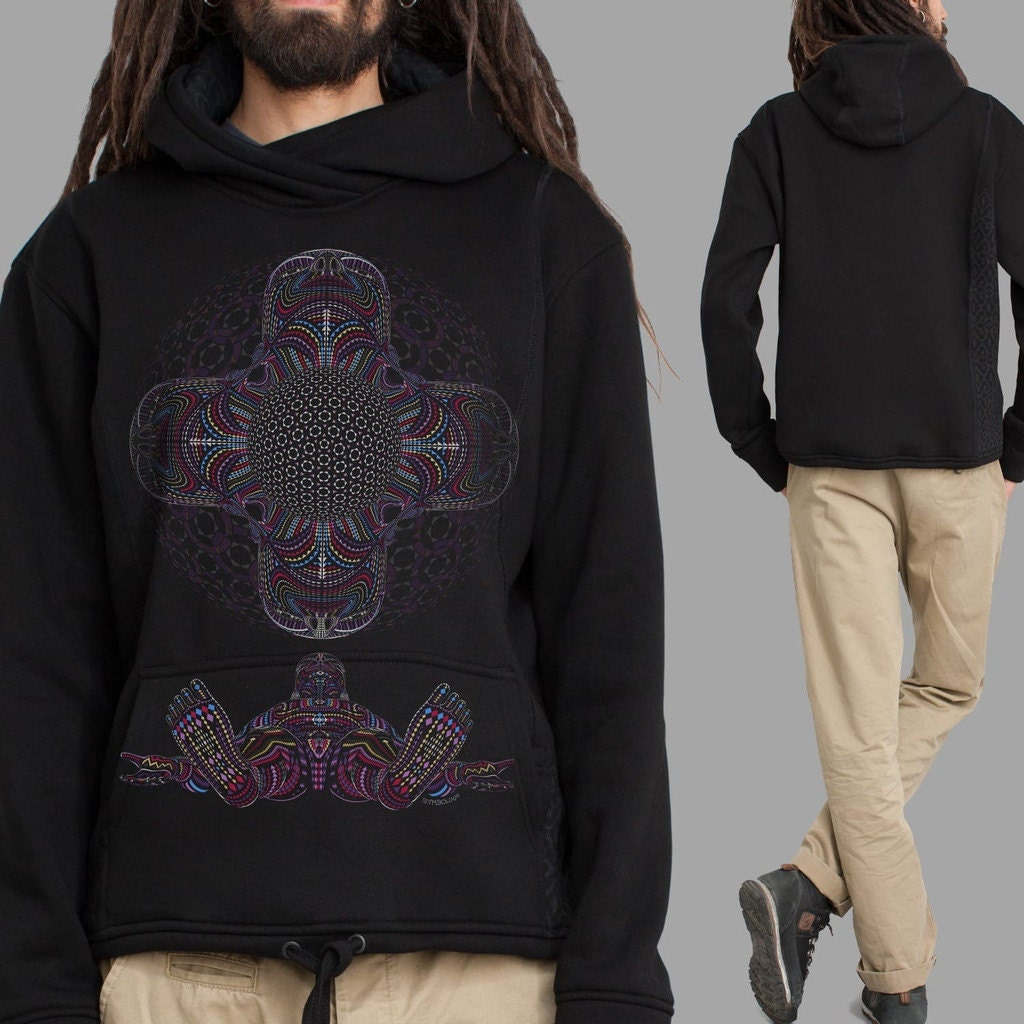 dmt clothing hoodies for psychedelic jacket in black